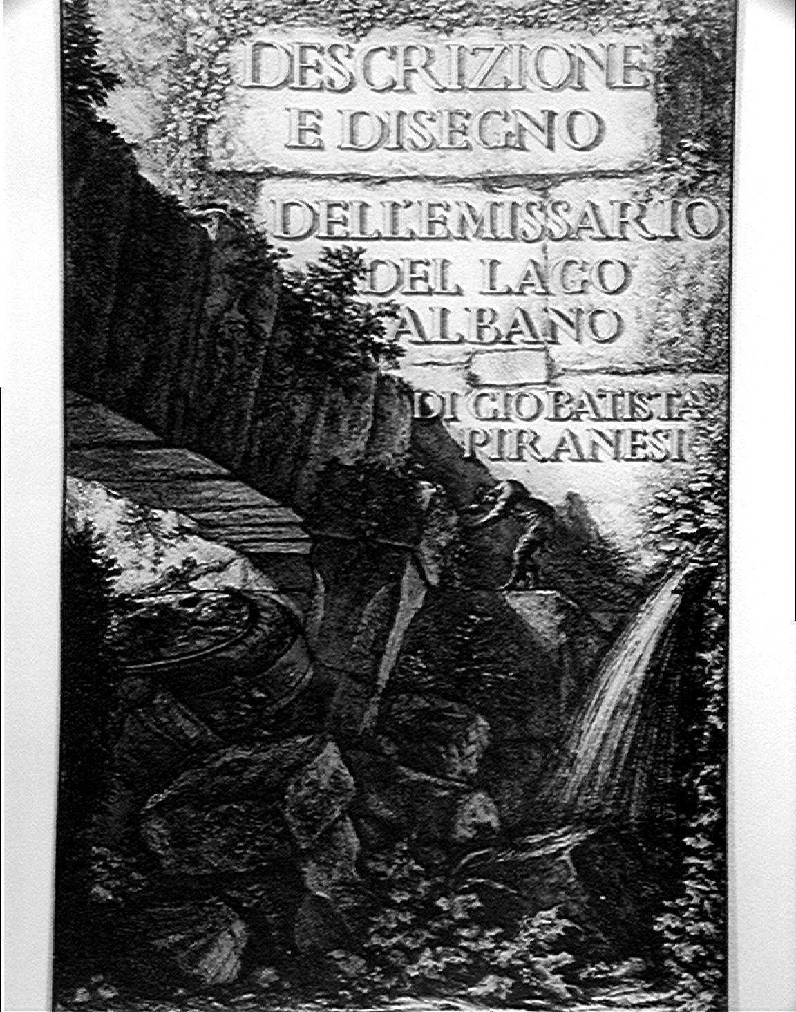 The engravings of gb piranesi and other plans of rome for Lago disegno
