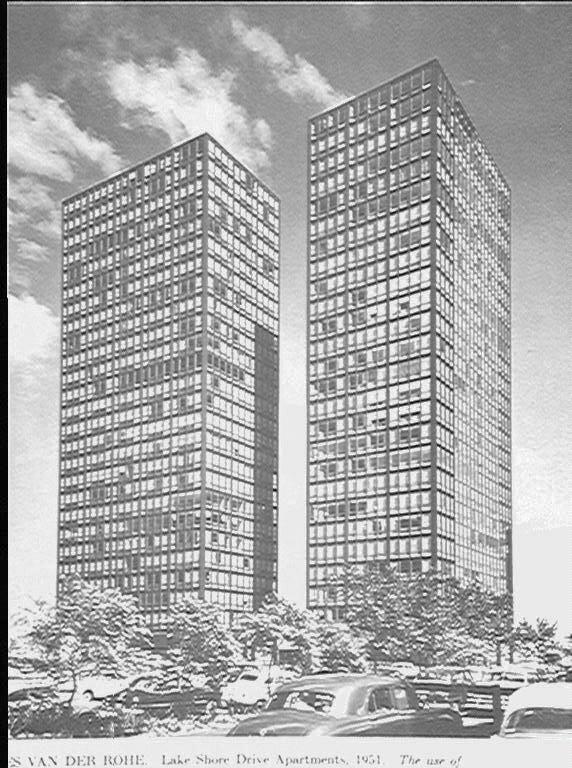 Mies Van Der Rohe L Apartment Chicago Lake S Drive