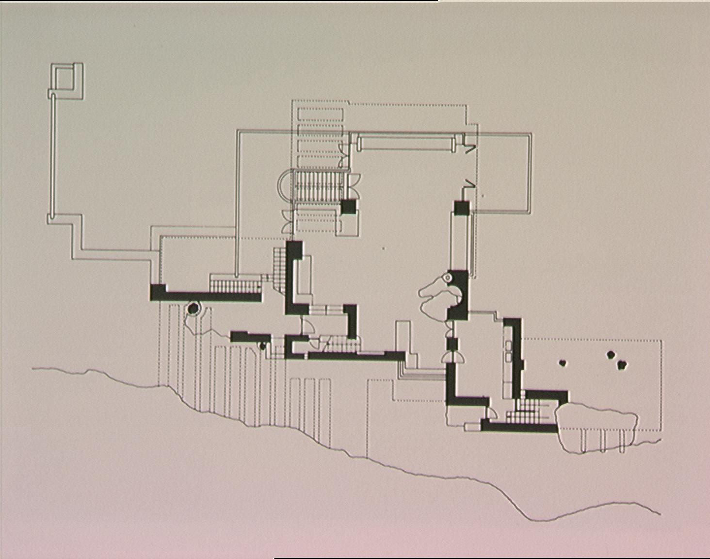 Falling Water House Plans And Section