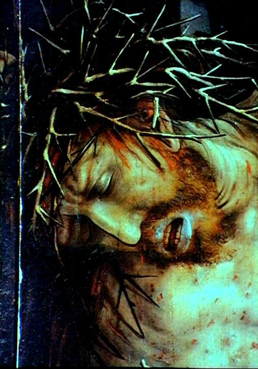 Matthias Grünewald, detail of Crucifixion, center panel from Isenheim Altarpiece, c. 1515