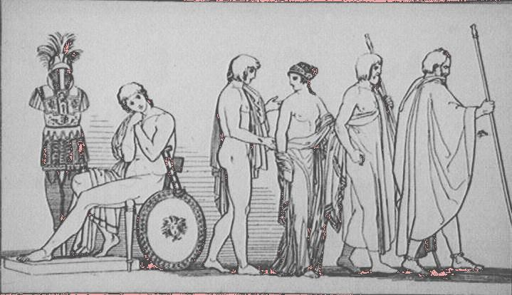 Departure of Briseis from Tent of Achilles (after Flaxman) Piroli Thomas Britain & Over 4600 Images of Art and Architecture.