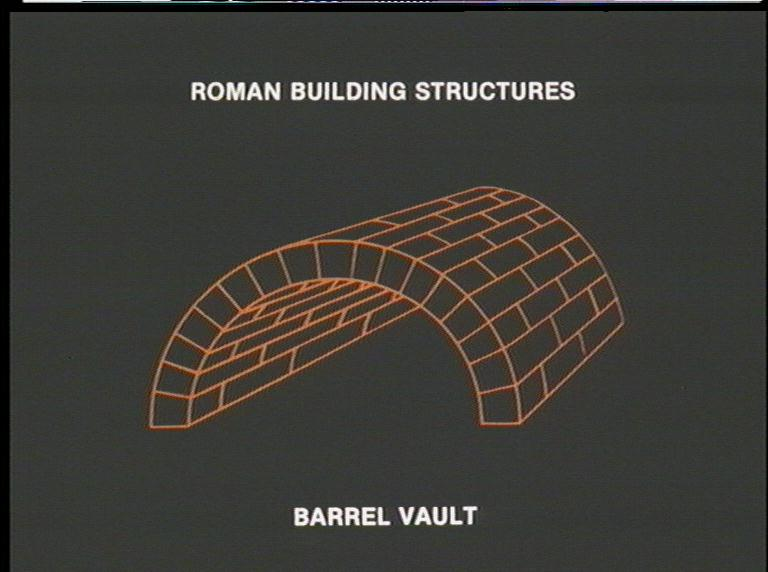 roman barrel vault Discussion of braced barrel vaults and their behavior under gravity loads.