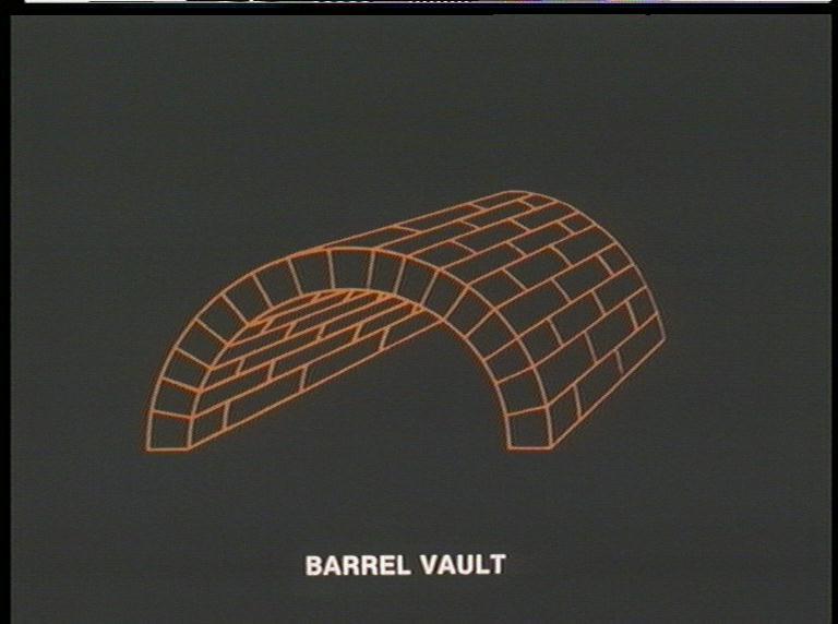 Renaissance Architecture Barrel Vault Diagram