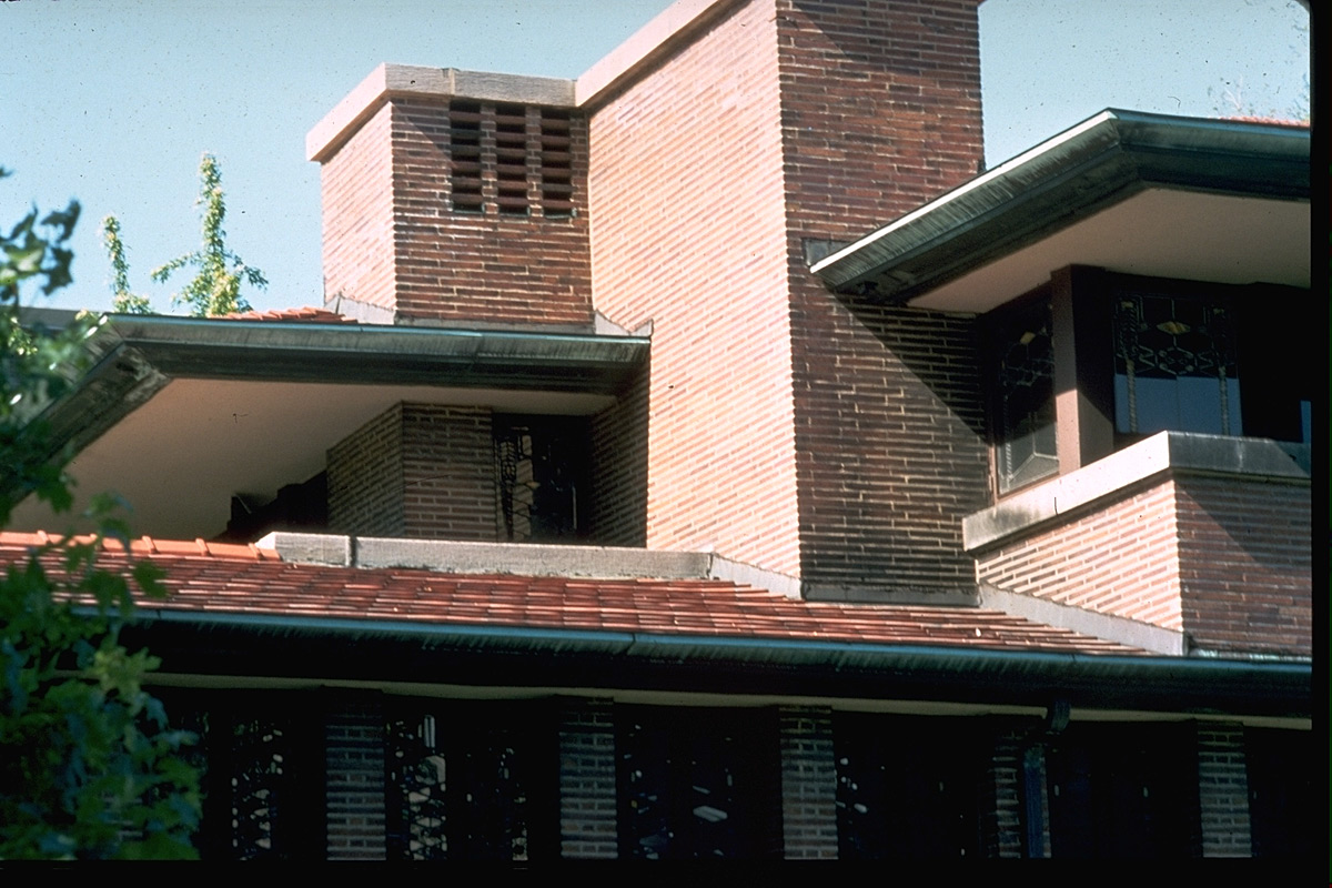 Id 1285 Src Wright Robie House Exterior Detail Of